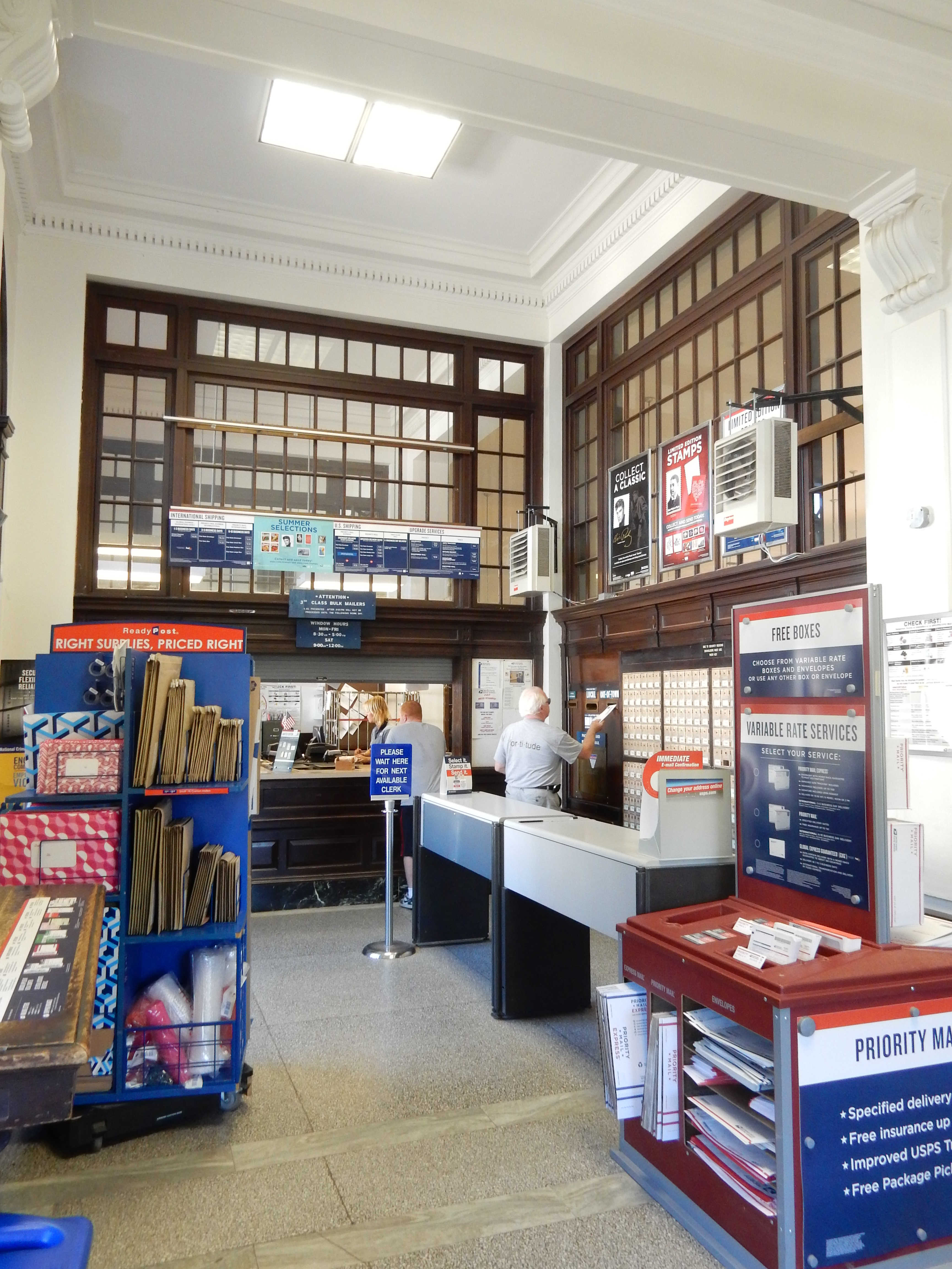 Interior Of The Post Office