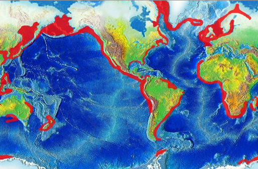 Together with ocean surface salinity map on ocean salinity diagram