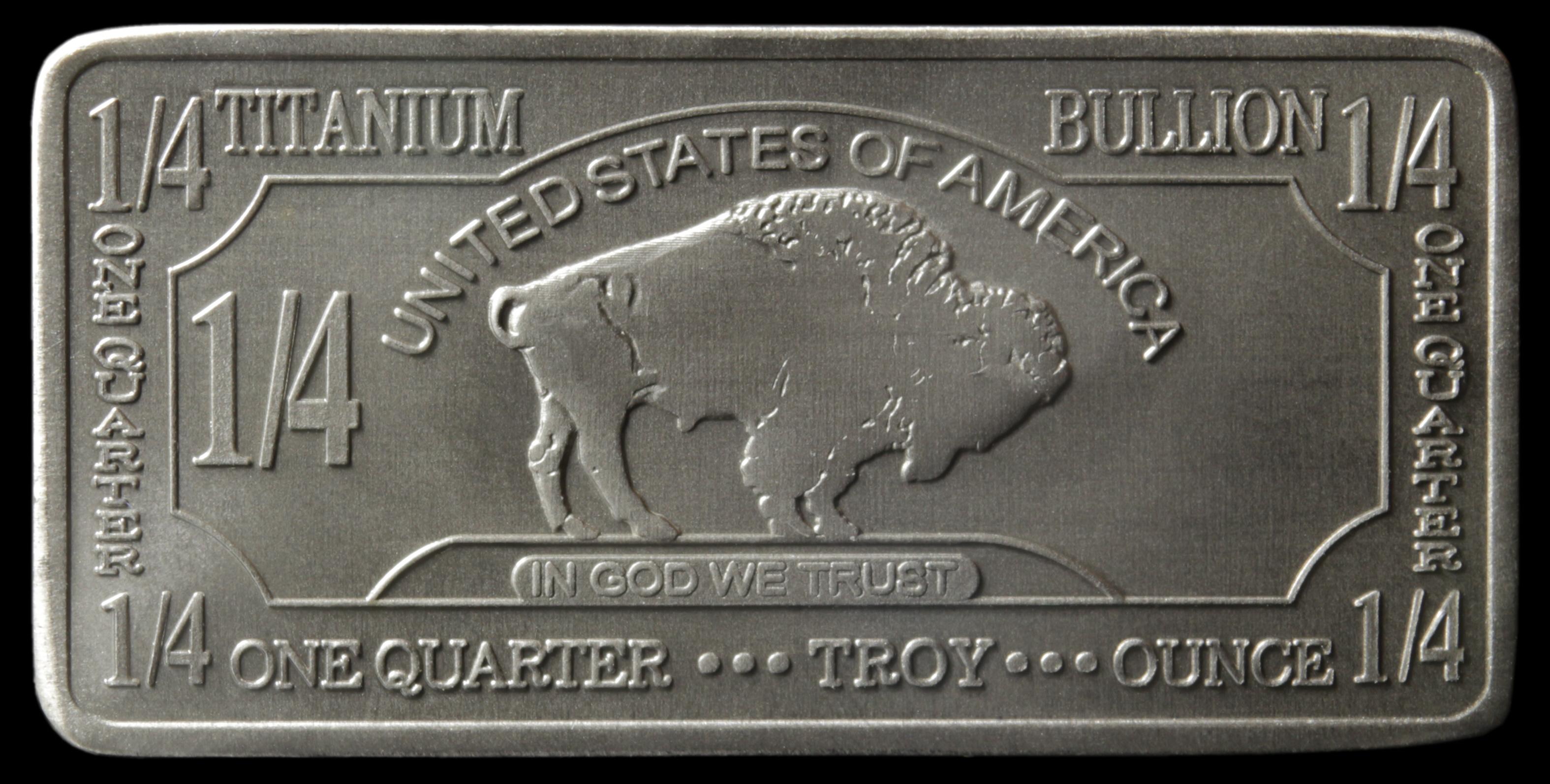 1//4 Oz Titanium Bullion Bar