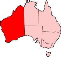 Mapa Austràlia Occidental