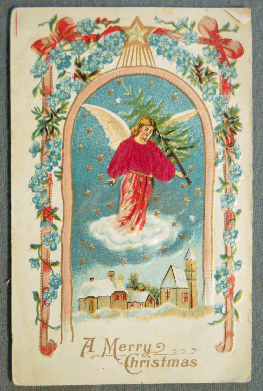Одноклассникам, открытки 1900 года с рождеством