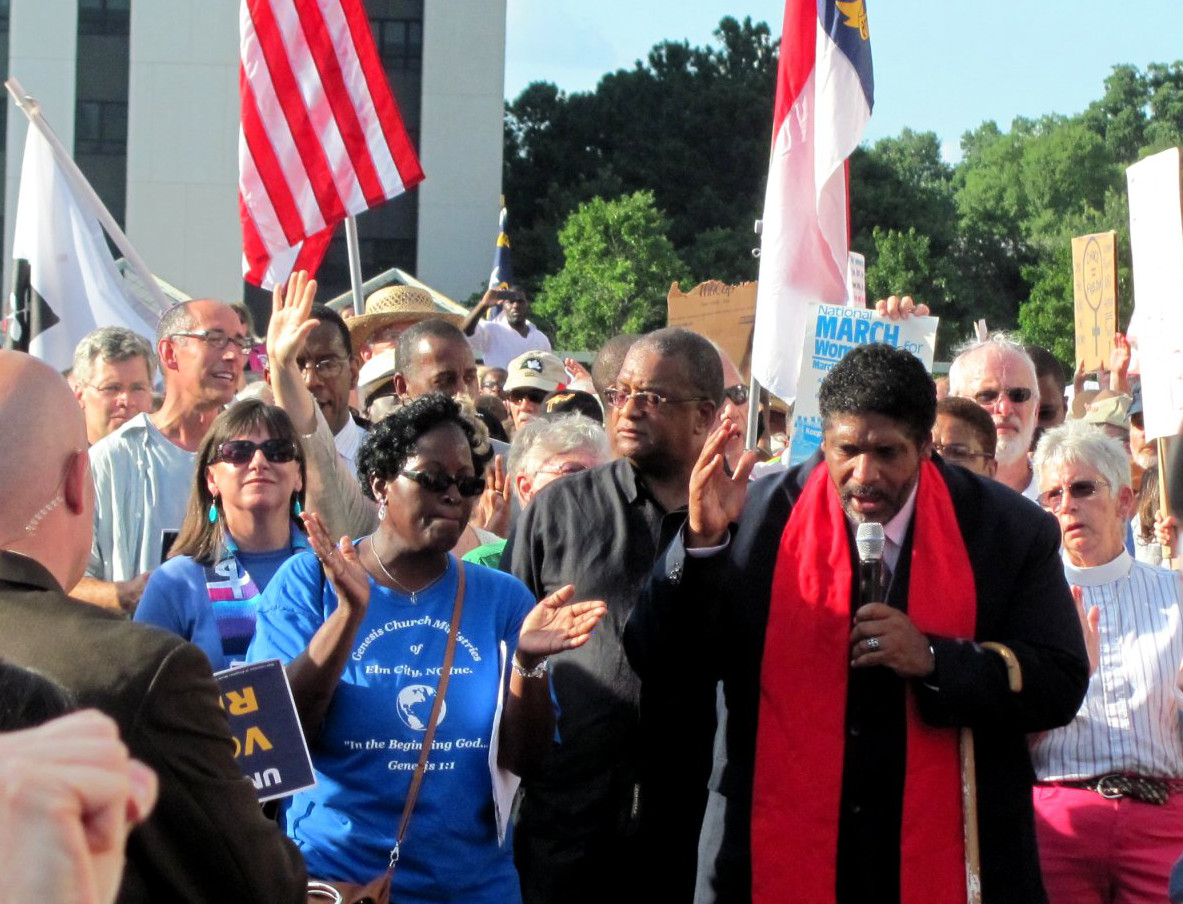 William Barber at Moral Mondays rally.jpg