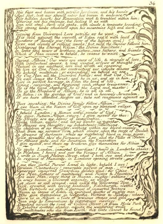 an image of eden in jerusalem by william blake In his life of william blake jerusalem (london: printed by william blake, 1804 [ie symbol and image in william blake.