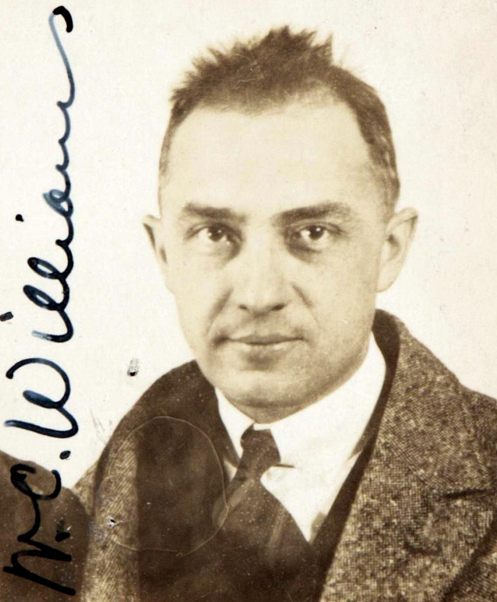 William Carlos Williams passport photograph,1921