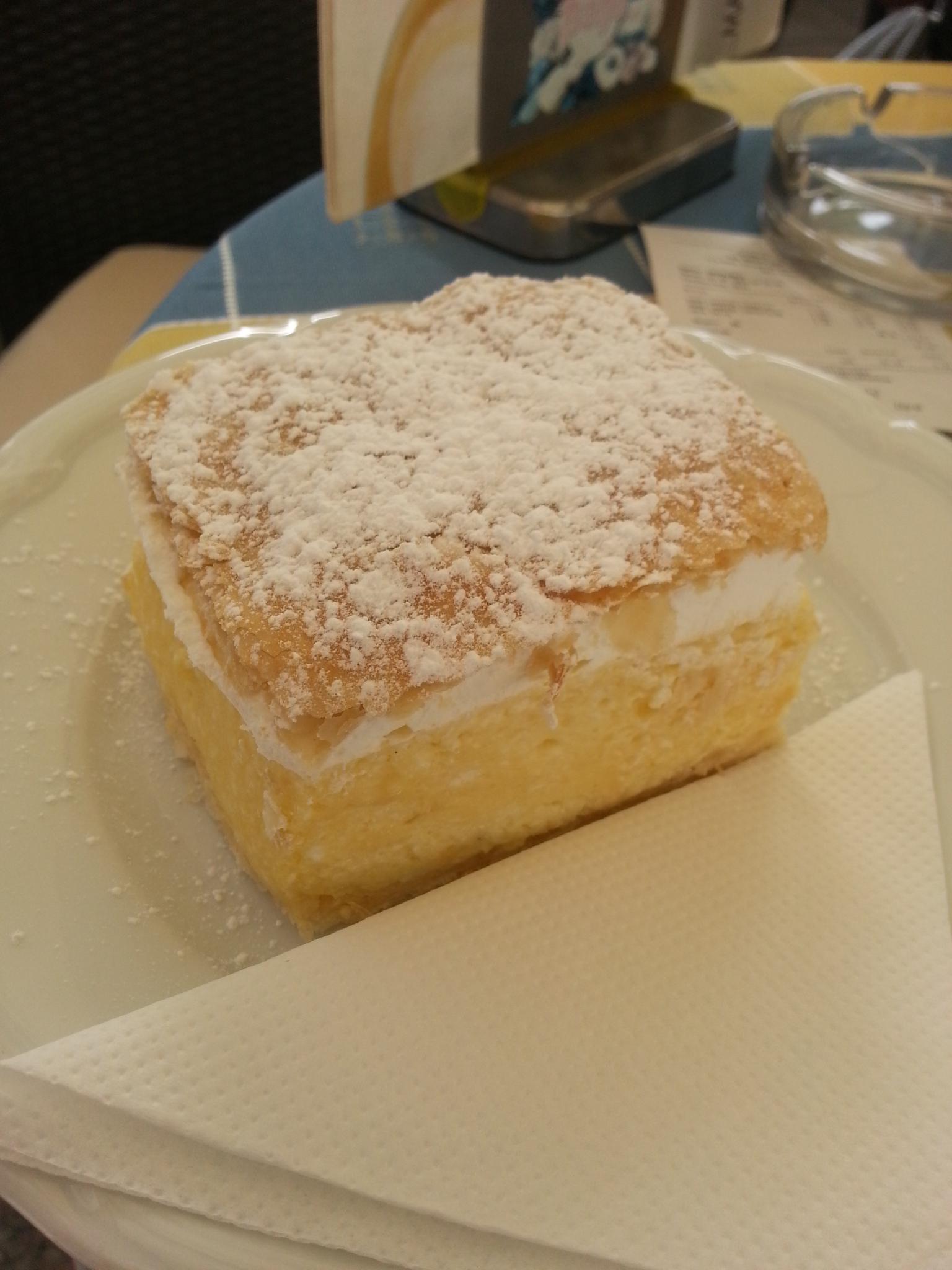 Kremsnita A Vanilla And Custard Cream Cake Dessert