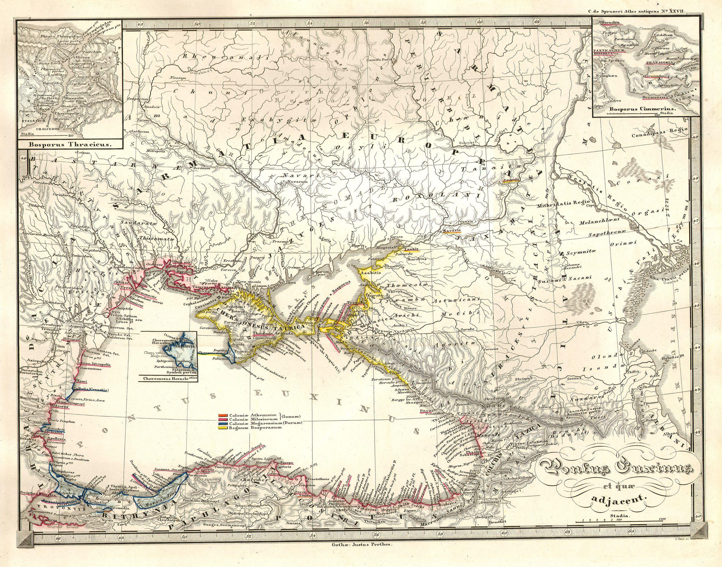 File:1855 Spruneri Map of the Black Sea or Pontus Euxinus in Ancient ...