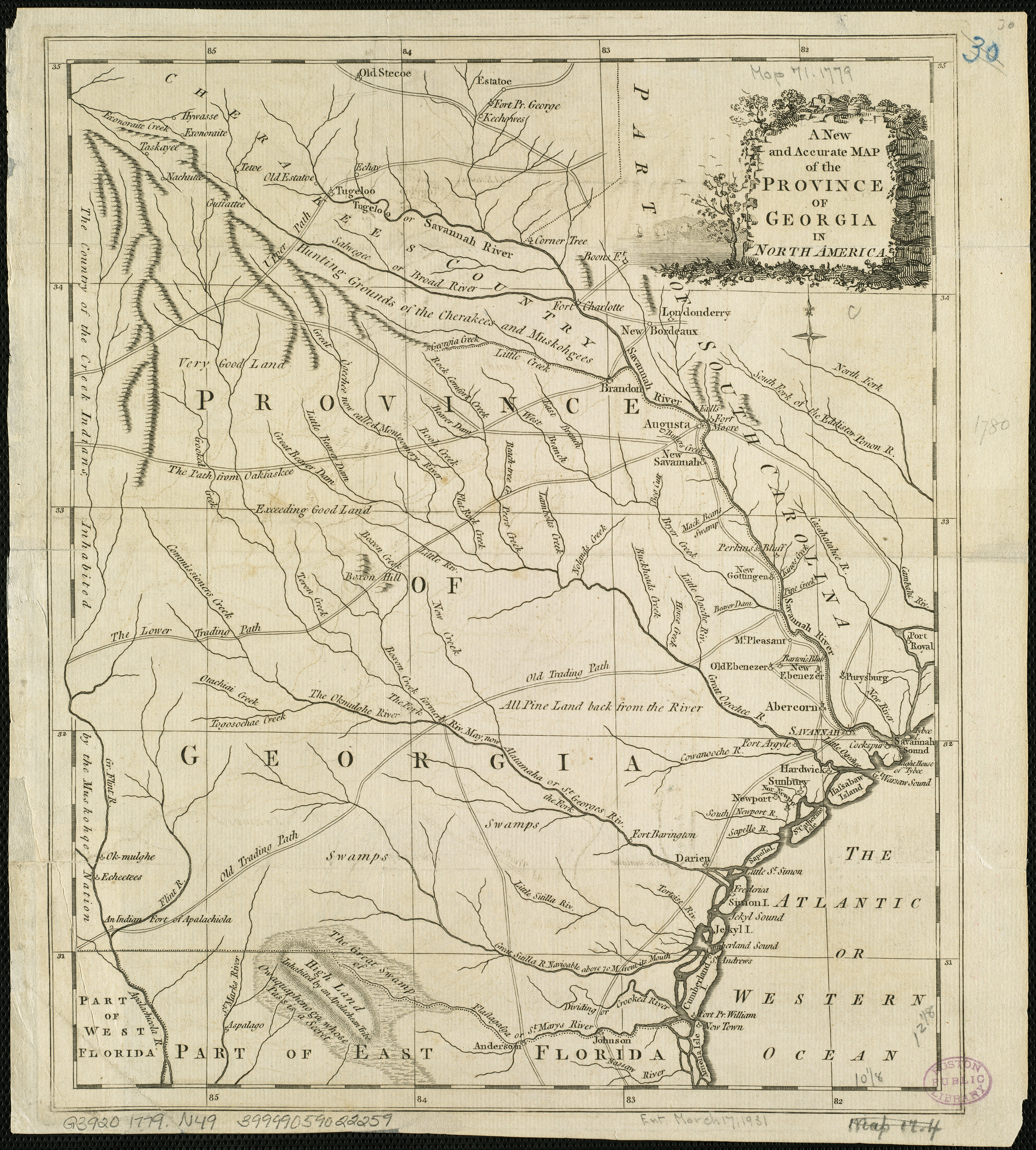 FileA New And Accurate Map Of The Province Of Georgia In North - Georgia map 21