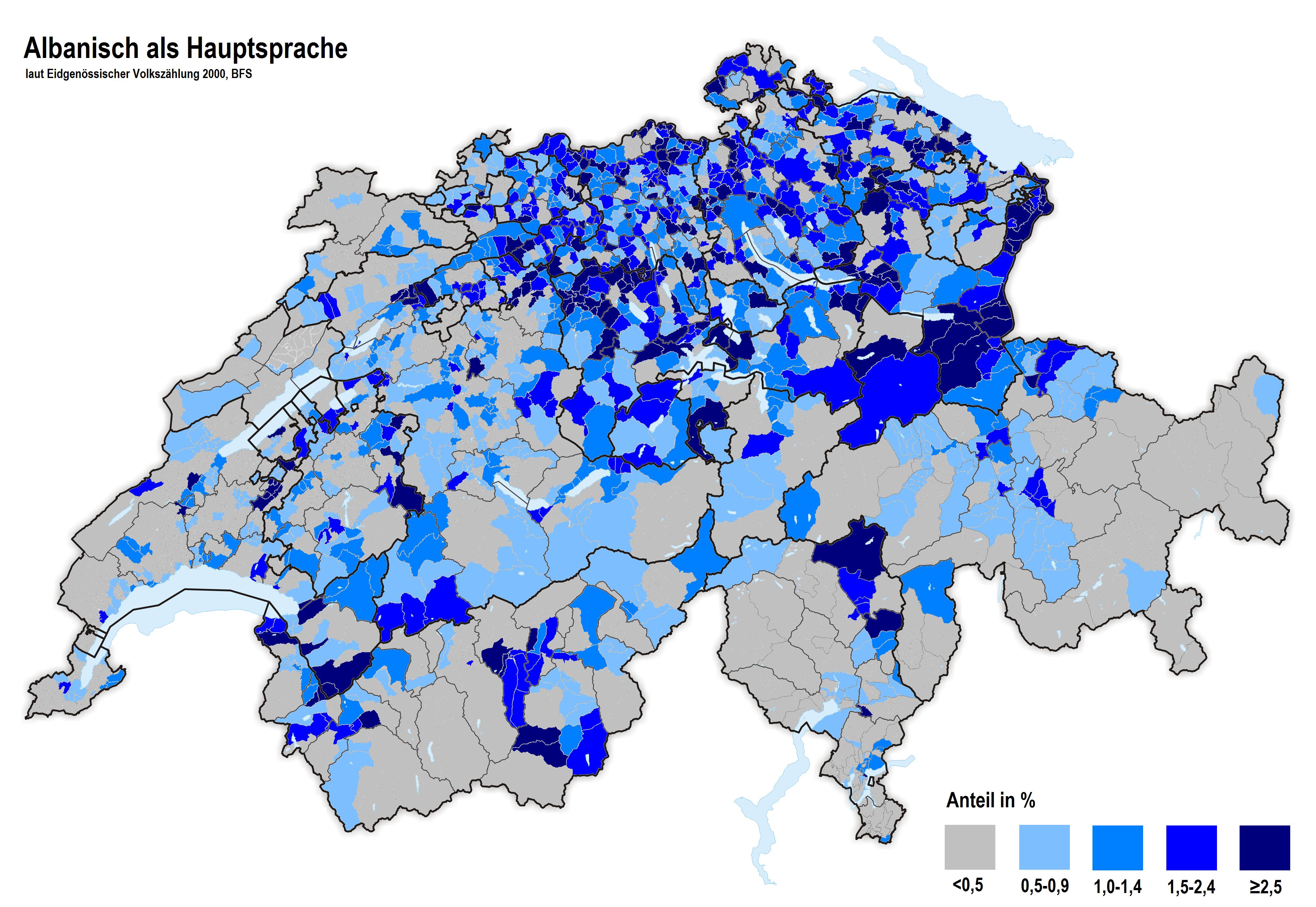 Albaner In Der Schweiz Wikipedia