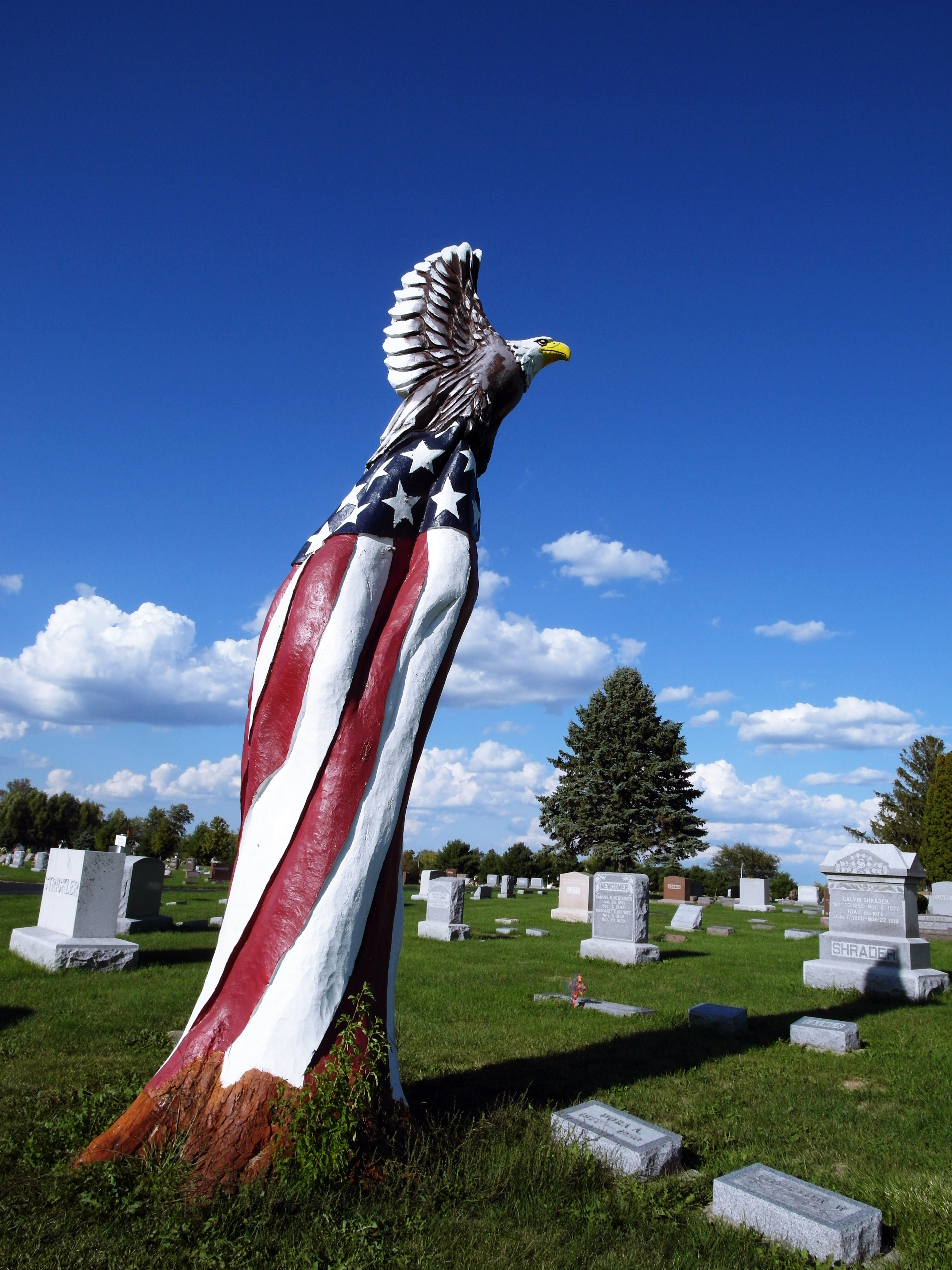File American Bald Eagle Chainsaw Art Fairmount Cemetery