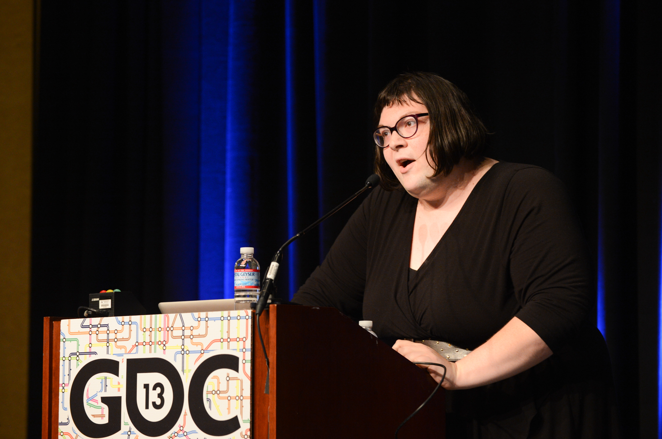 Anna Anthropy speaking at the 2013 [[Game Developers Conference]]