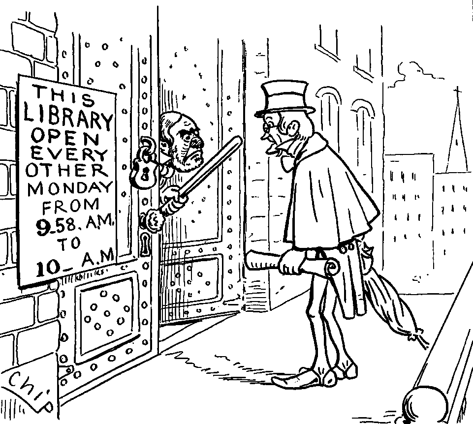 http://commons.wikimedia.org/wiki/File:Astor_Library_cartoon_by_Chip.png