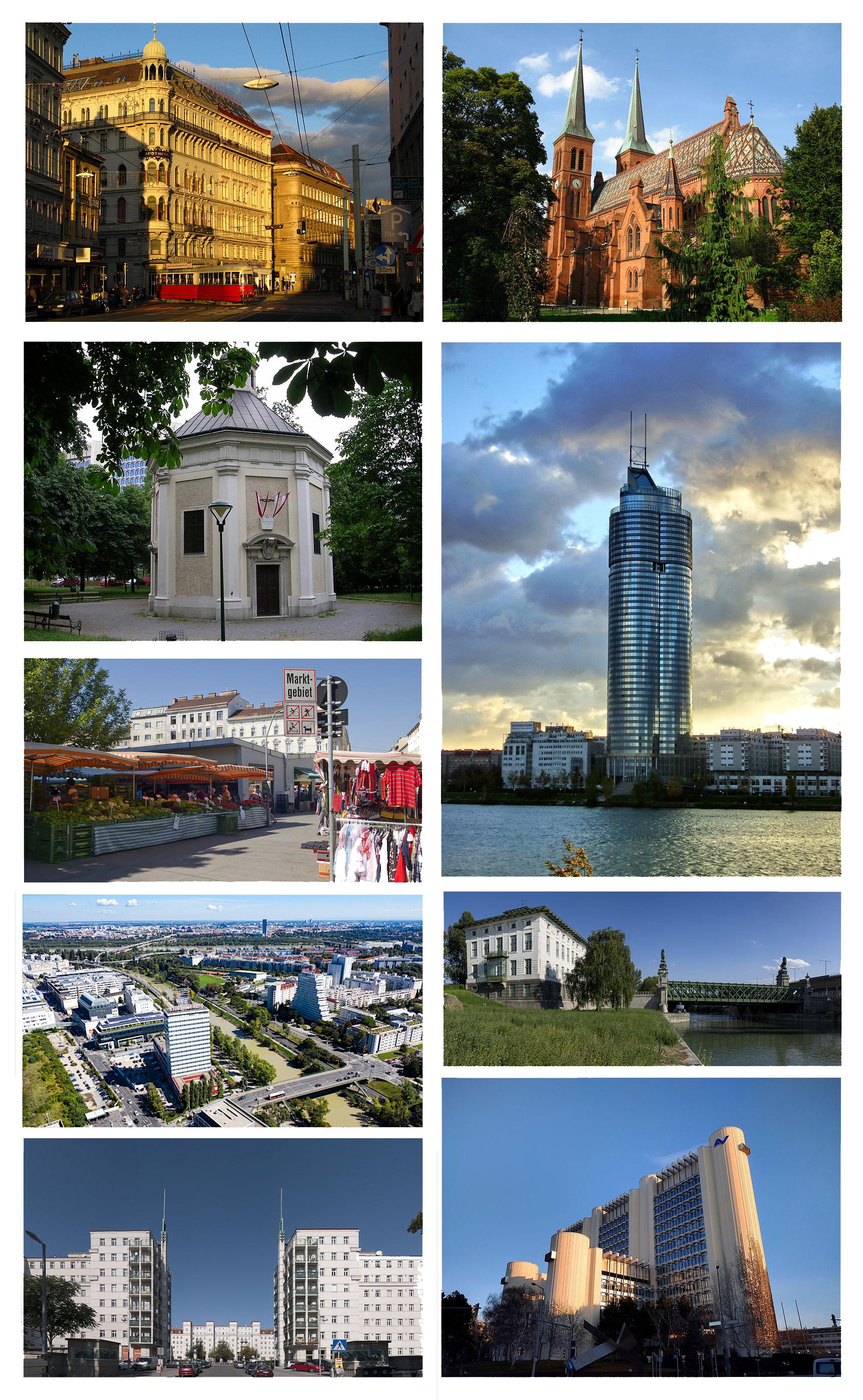 Filebrigittenau Collage Of Main Landmarksjpg Wikimedia Commons