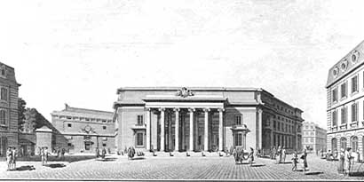 Projet de palais de justice à Caen en 1788