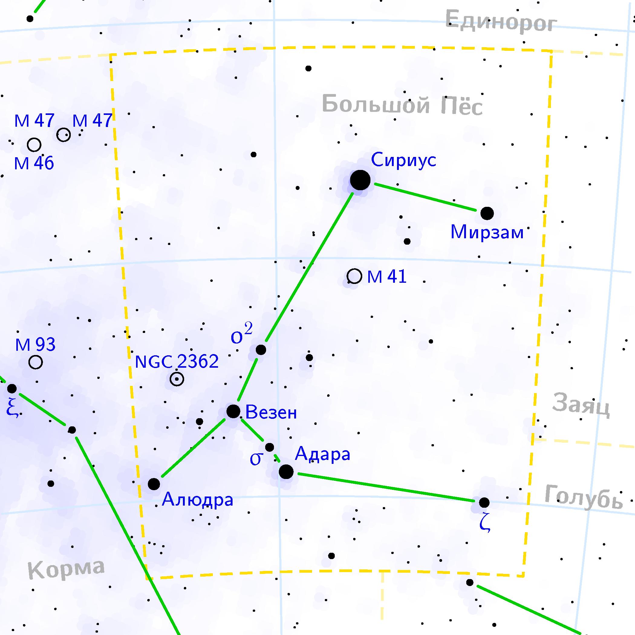 Доклад о созвездии большой пес 1903
