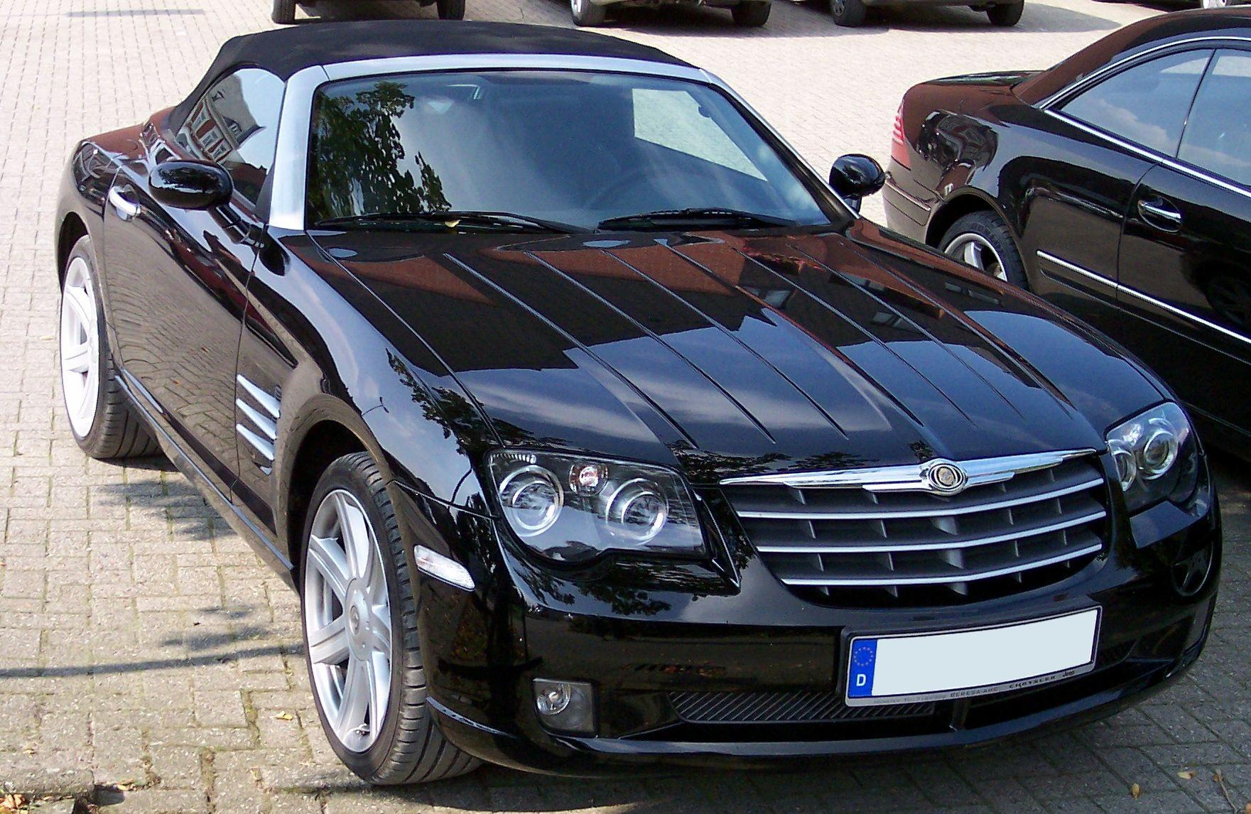 file chrysler crossfire cabrio black wikimedia commons. Black Bedroom Furniture Sets. Home Design Ideas