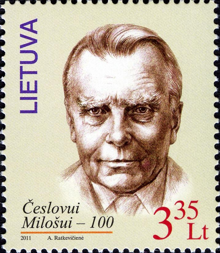 czesław miłosz 2011 lithuania stamp.jpg