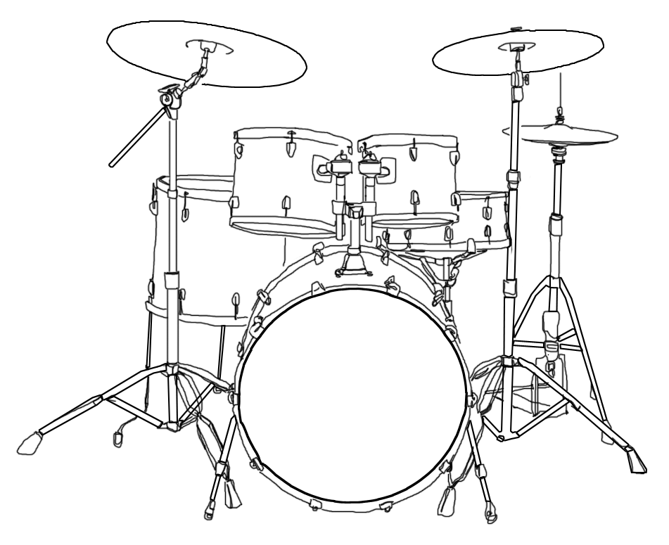 Diagram Of A Drum Kit This Shows The Parts Of A Drum Kit And The