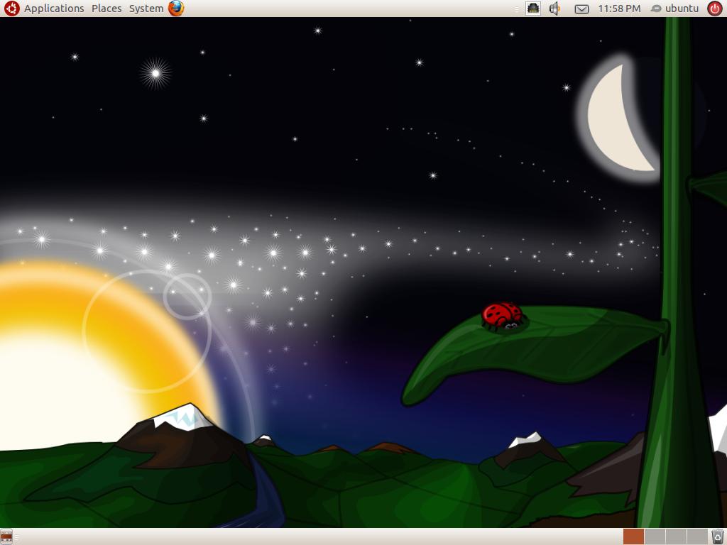 Desktop von Edubuntu 10.04