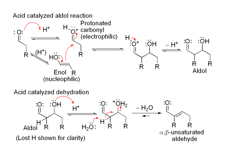 a lab project report on the aldol dehydration chemistry using unknown aldehydes and ketones In this lab you will use qualitative chemical tests to identify eight compounds ketones and aldehydes react with hydrazines to form compounds called hydrazones acid-catalyzed dehydration.