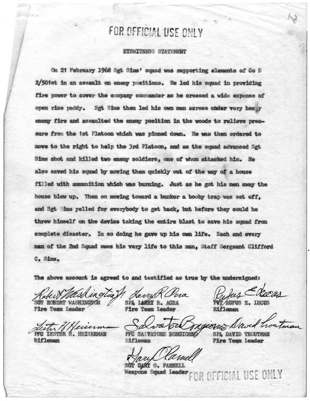 File:Eyewitness Statement of Robert Washington, Lester H. Heiserman, Larry  R. Acra, Salvatore Bongiorno, Gary O. Parnell... - NARA - 305389.jpg -  Wikimedia Commons