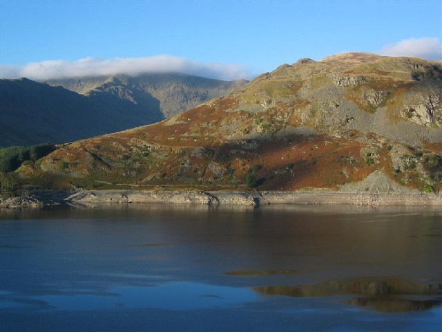 Flakehowe Crags, across Haweswater - geograph.org.uk - 65685