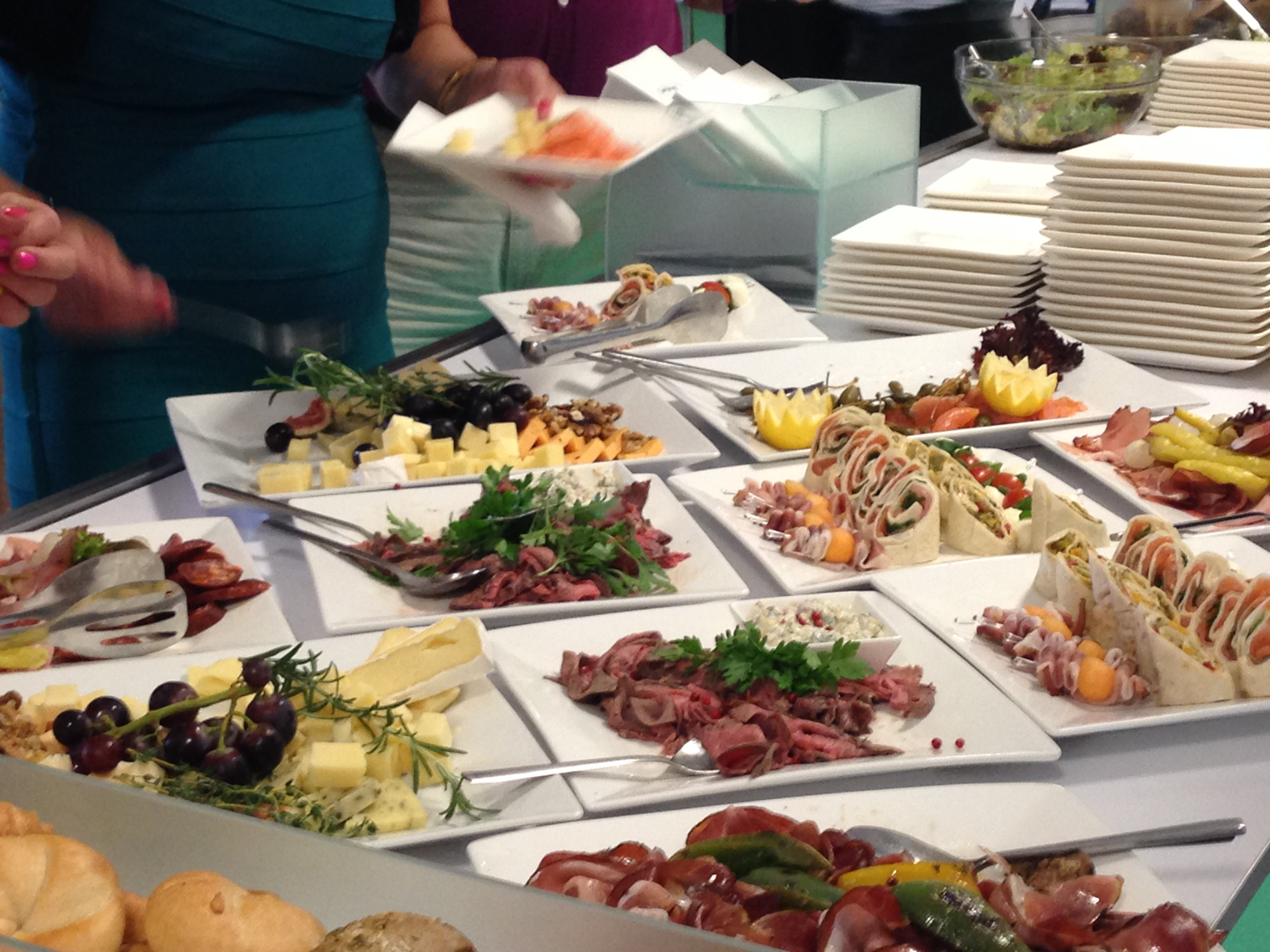 file food at a buffet in the pan european university