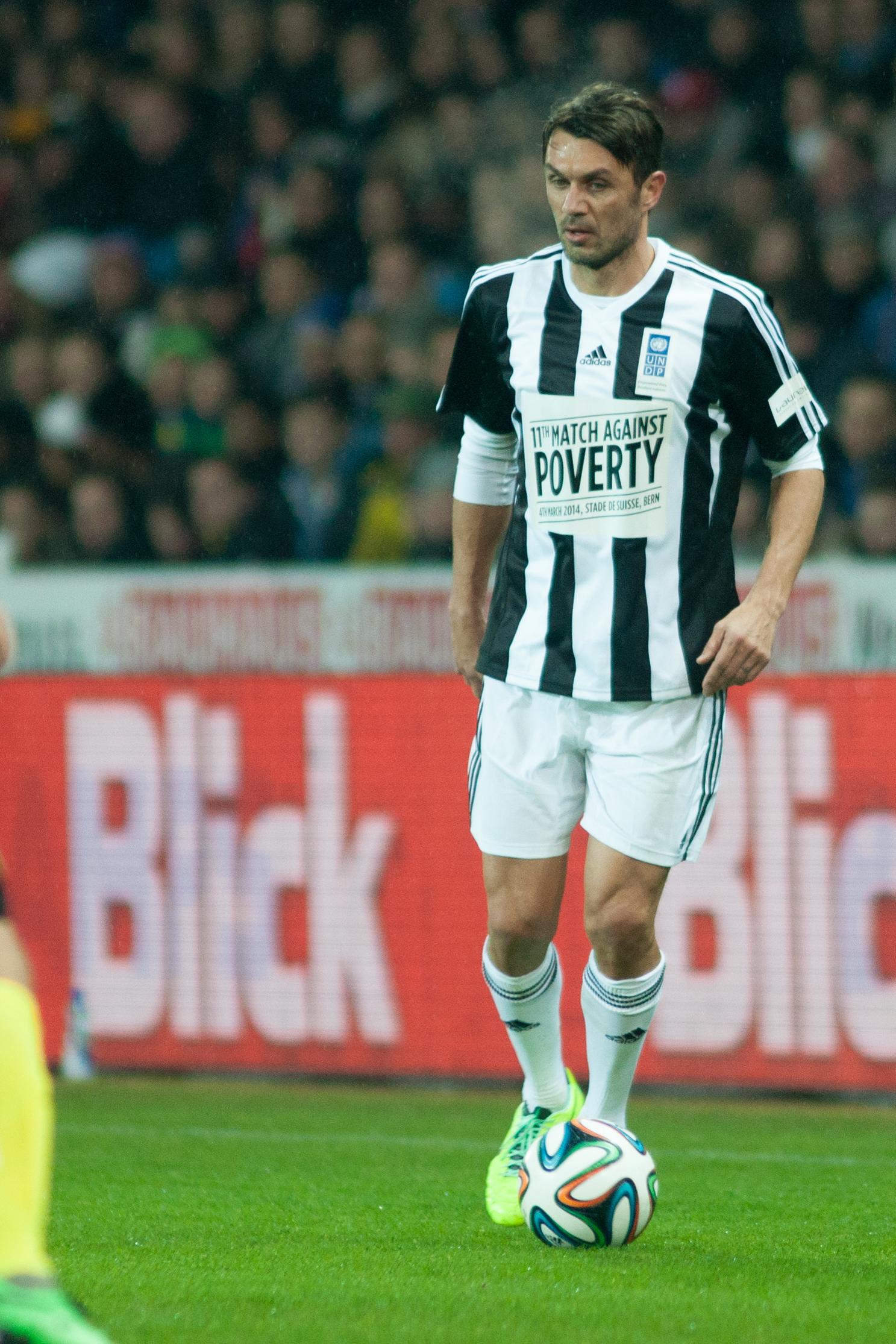 File Football against poverty 2014 Paolo Maldini Wikimedia