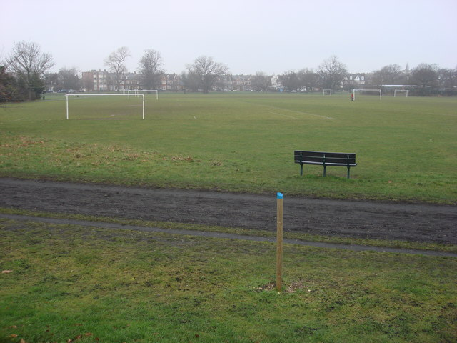 Football pitches on Tooting Bec Common - geograph.org.uk - 1120553