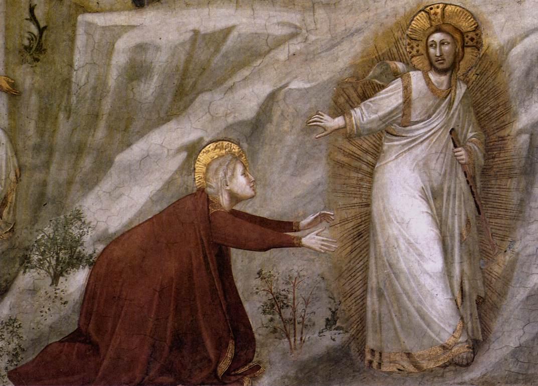 Giotto di Bondone: «Noli me tangere» (1302-06), Basilica di San Francesco i Assisi