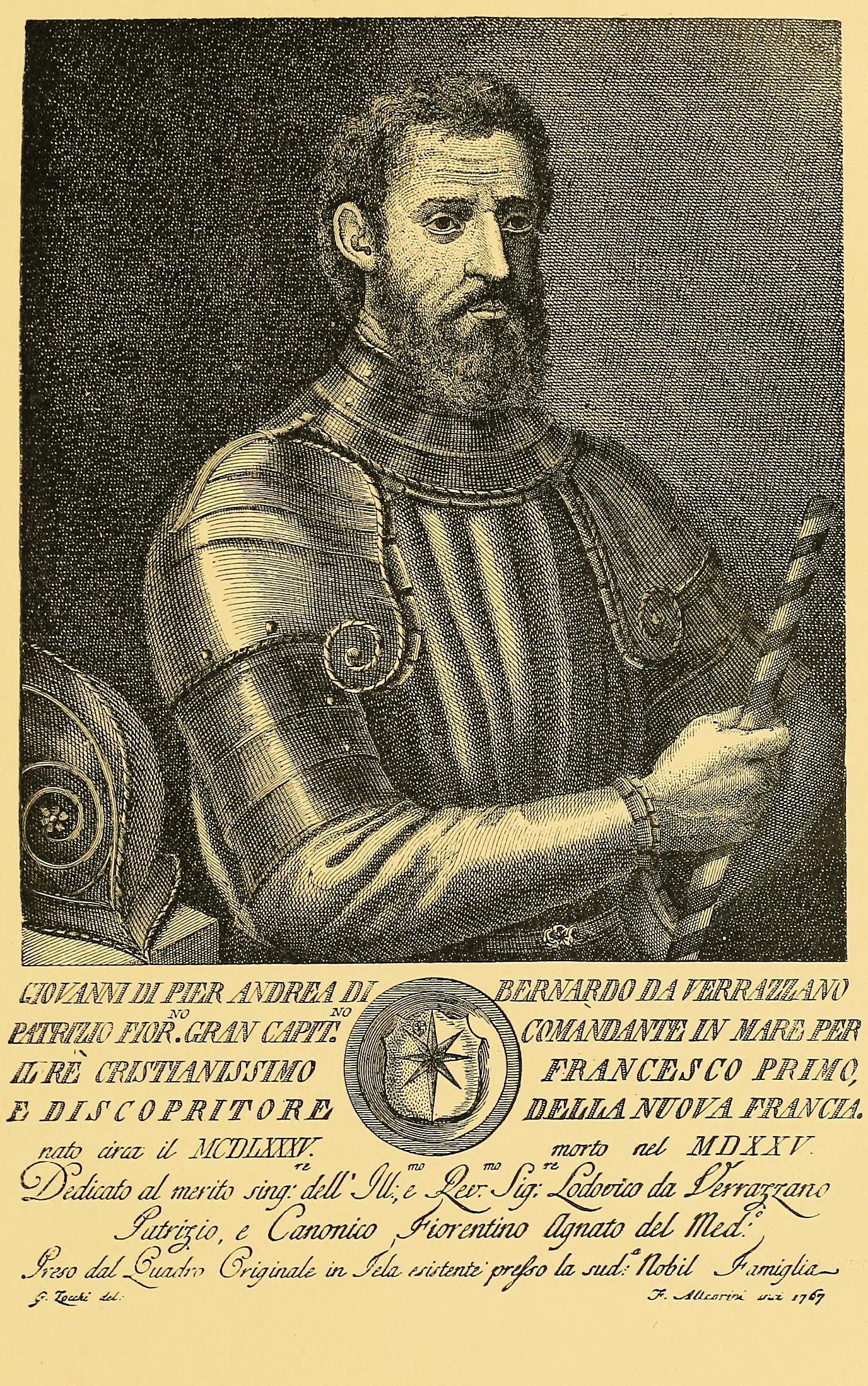 Depiction of Giovanni da Verrazzano