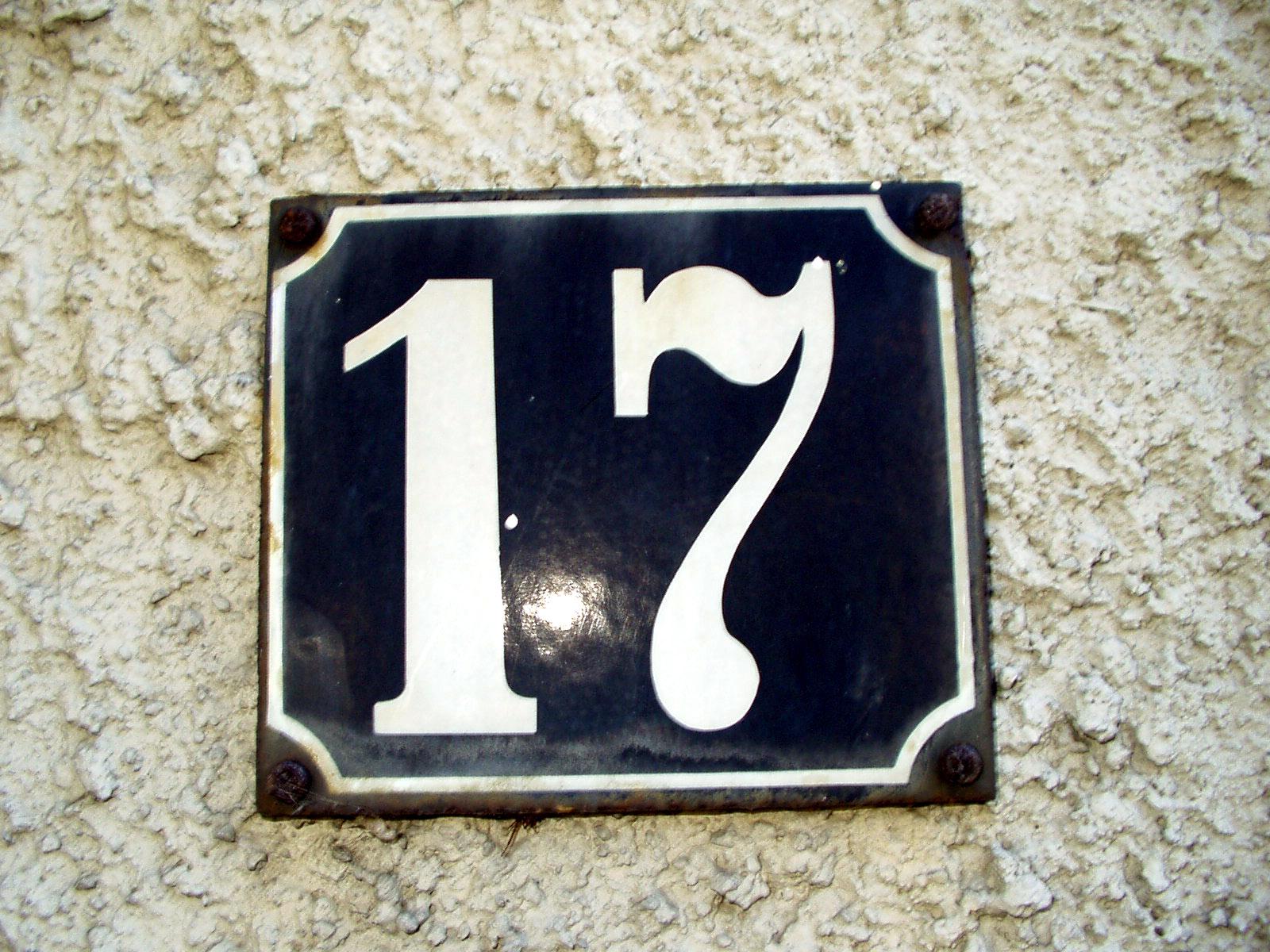 Hausnummer 17 (Gießen, Deutschland).jpg