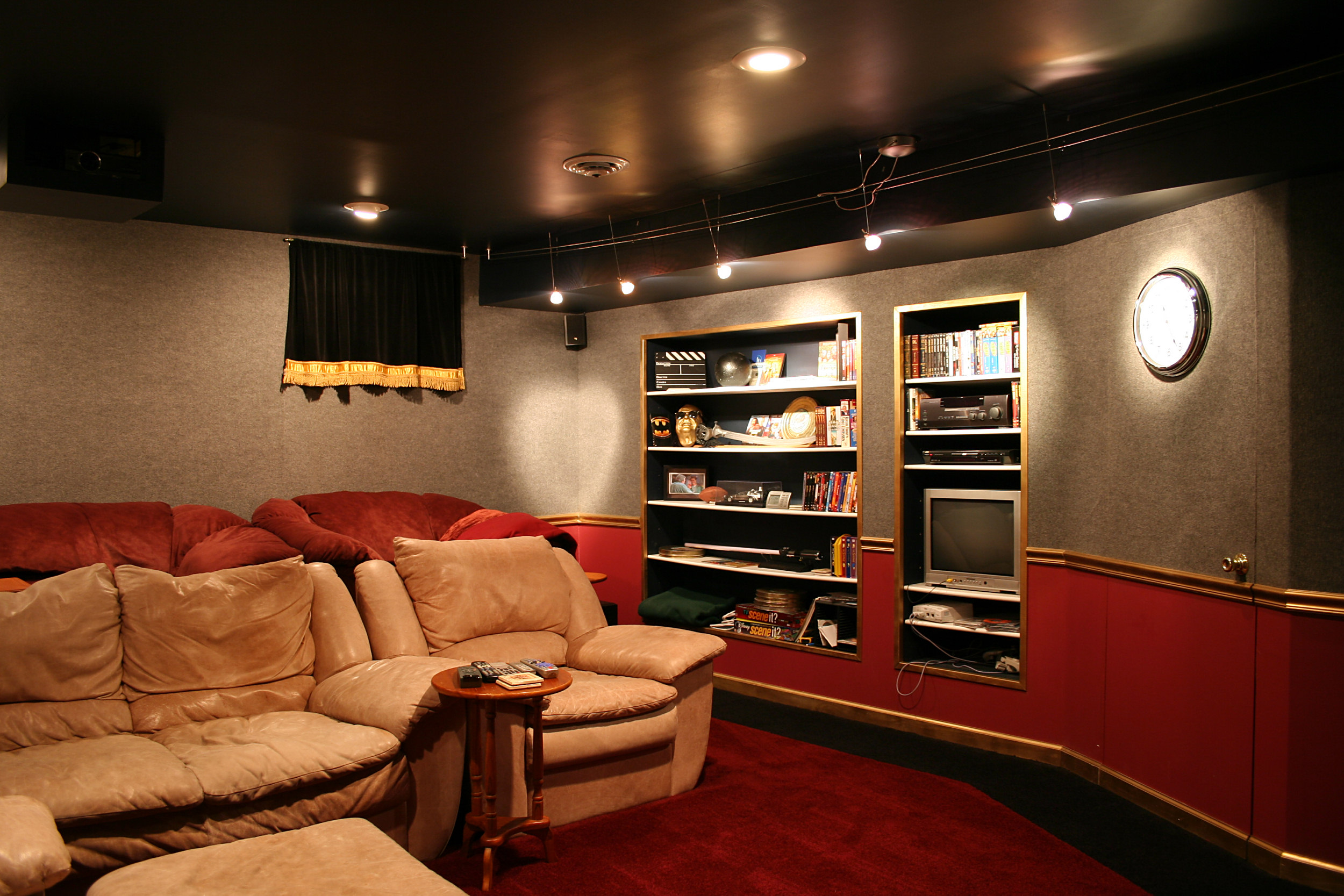 Tuesday s tips convert an attic into a home theater Home movie theater