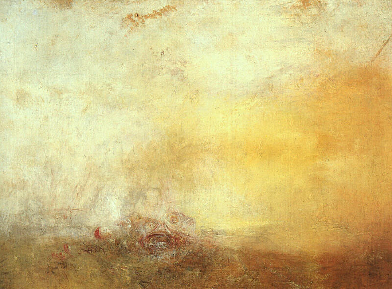 JMWTurner Sunrise with Sea Monsters