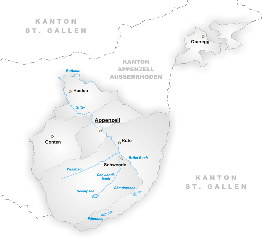 FileKarte Gemeinden des Kantons Appenzell Innerrhodenpng