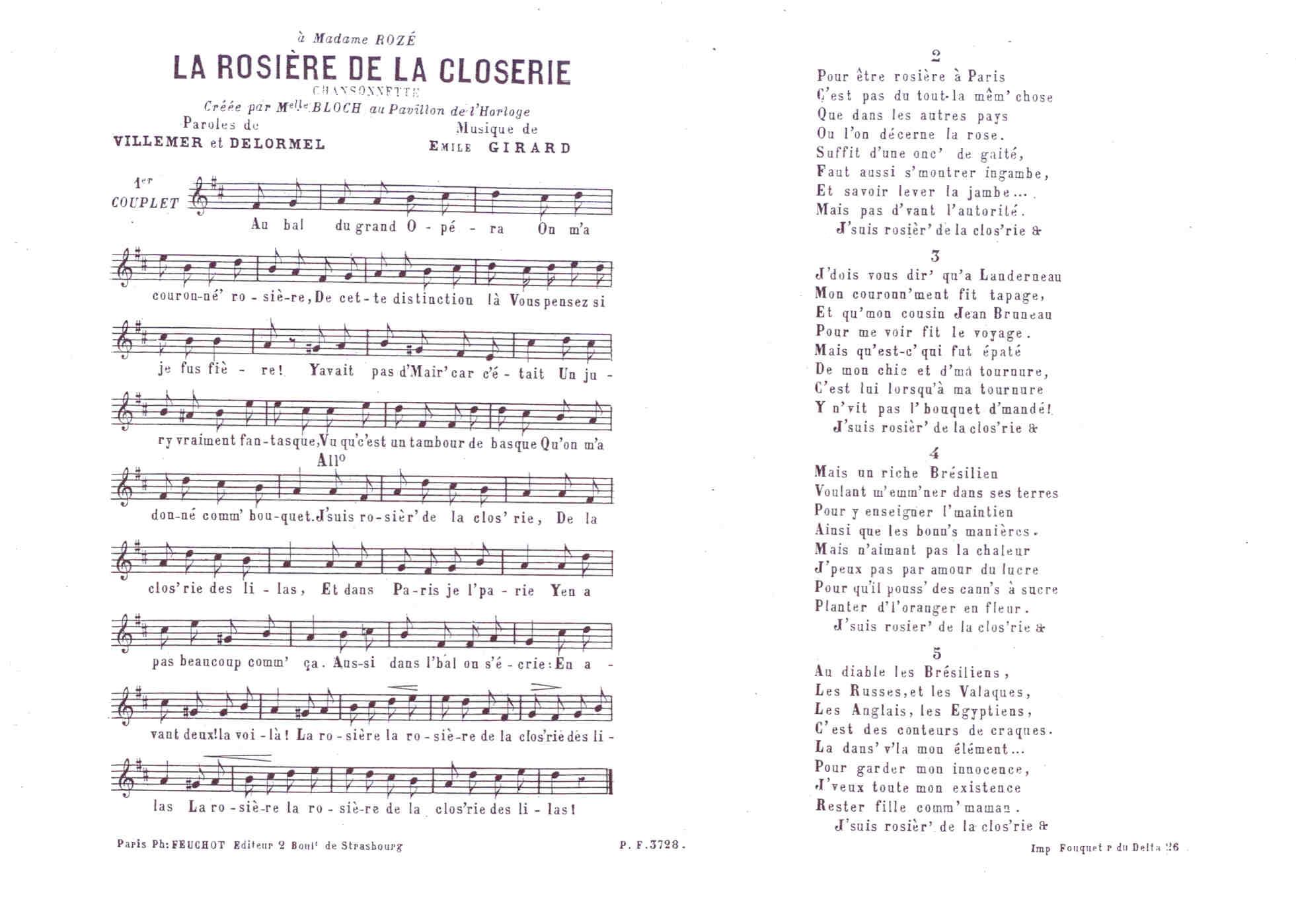 Filela Rosière De La Closerie Dessin De Lemaresquier