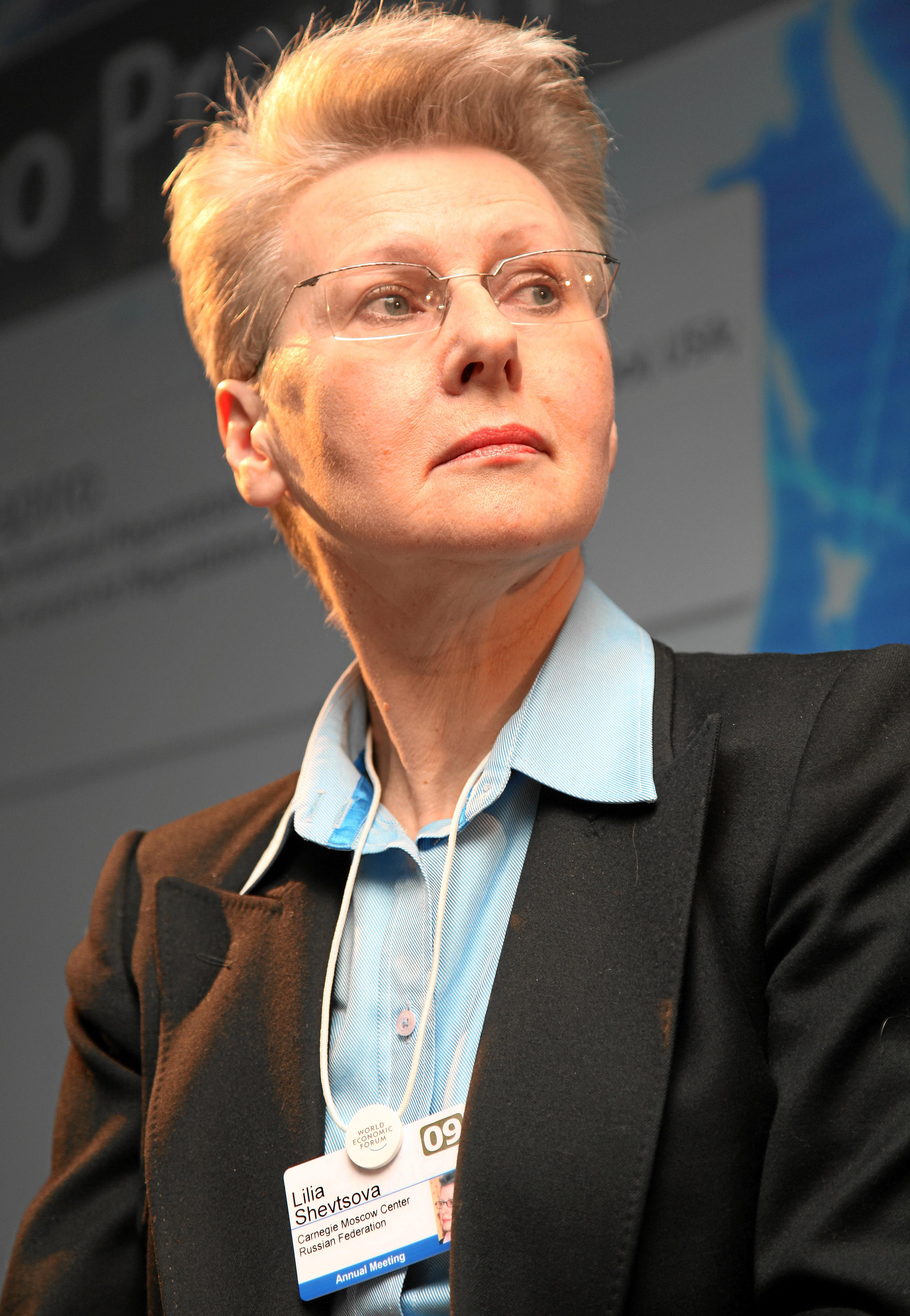 Lilia Shevtsova at the 2009 [[World Economic Forum