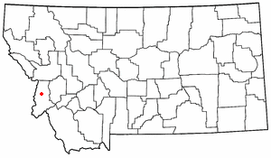 Location of the Bitterroot Valley within Montana.