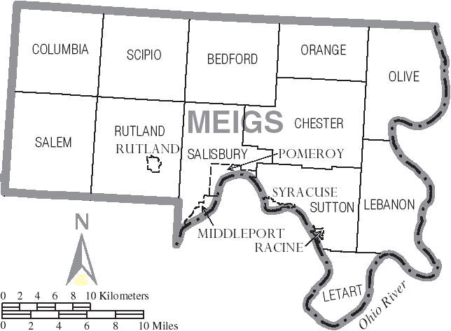 File Map Of Meigs County Ohio With Municipal And Township Labels Png