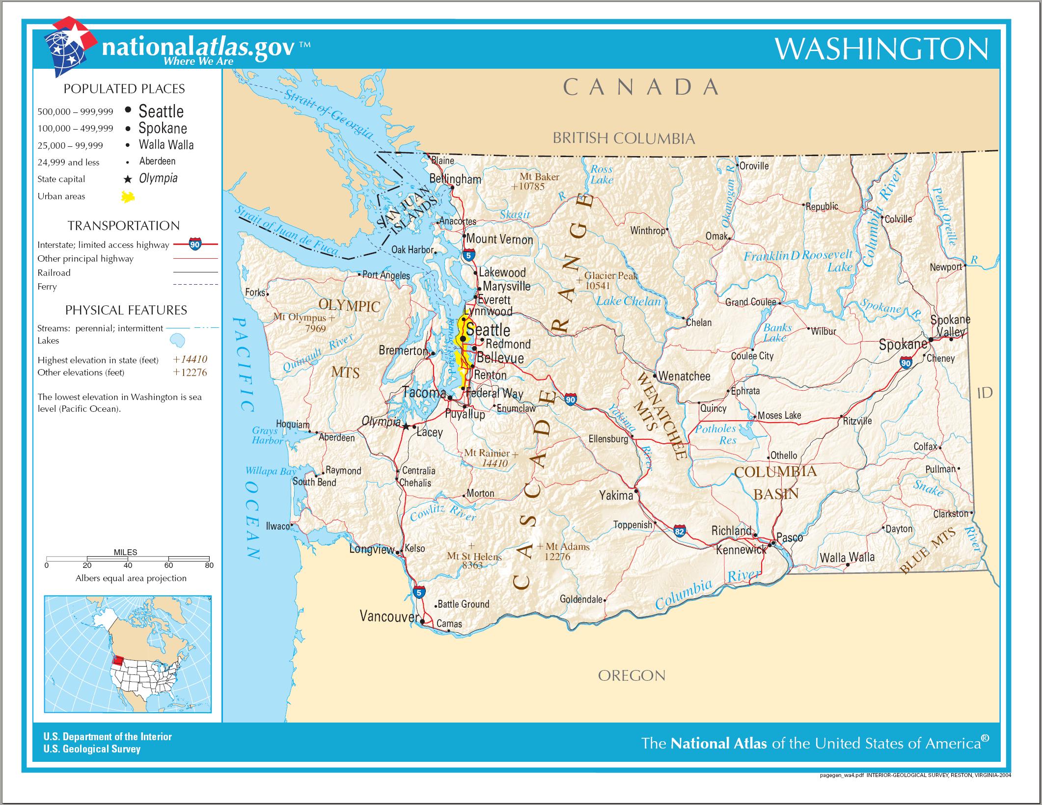 estado state Washington