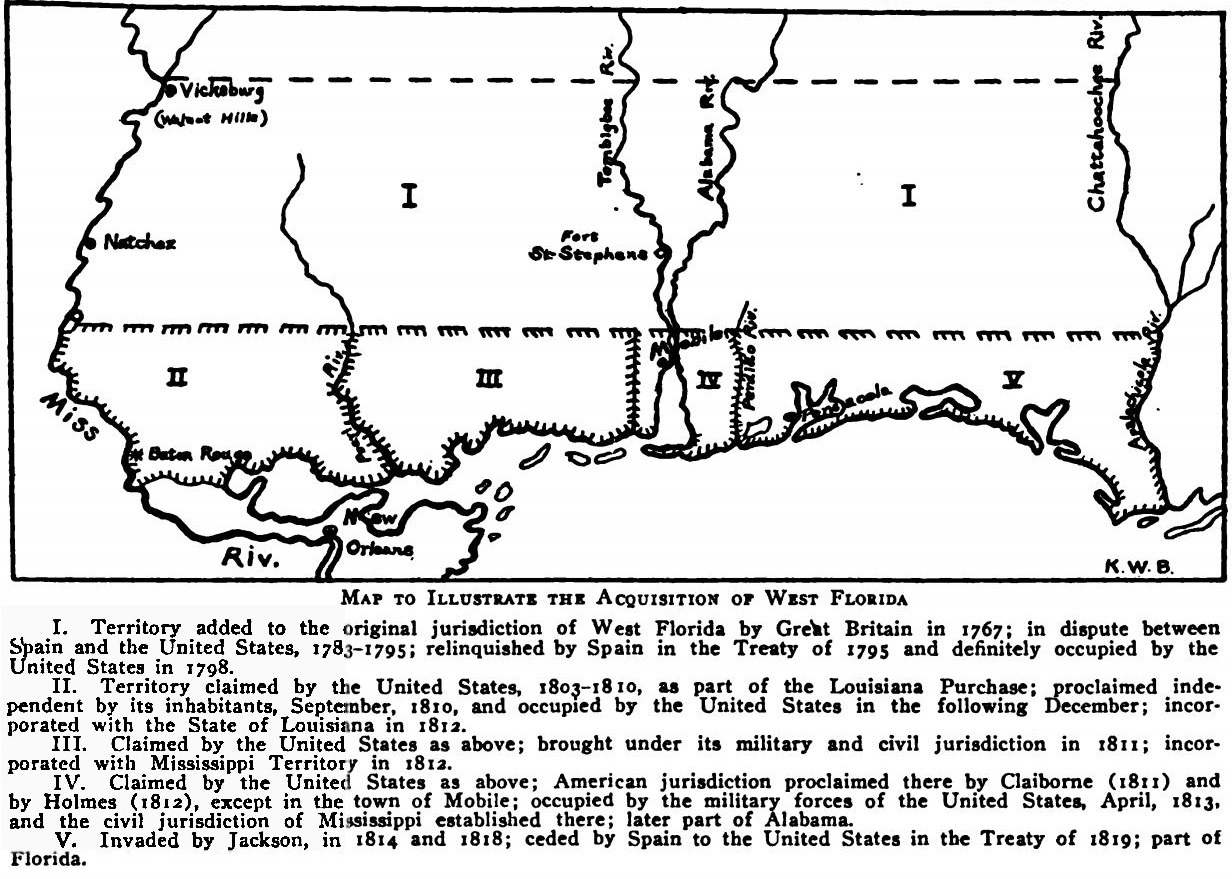 West Florida Map.File Map To Illustrate The Acquisition Of West Florida Jpg
