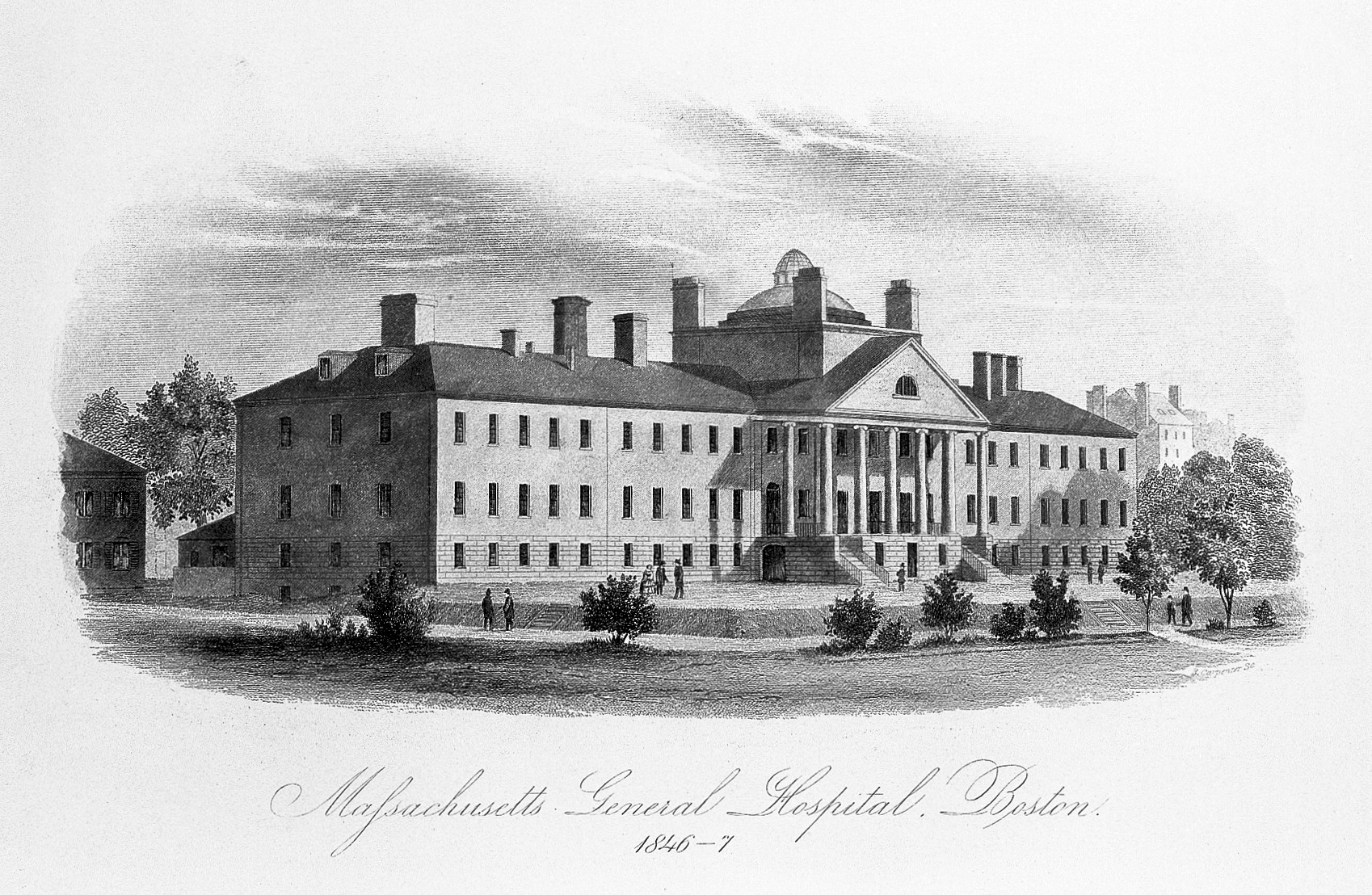 File:Massachusetts General Hospital, Boston, in 1846-7  Wellcome