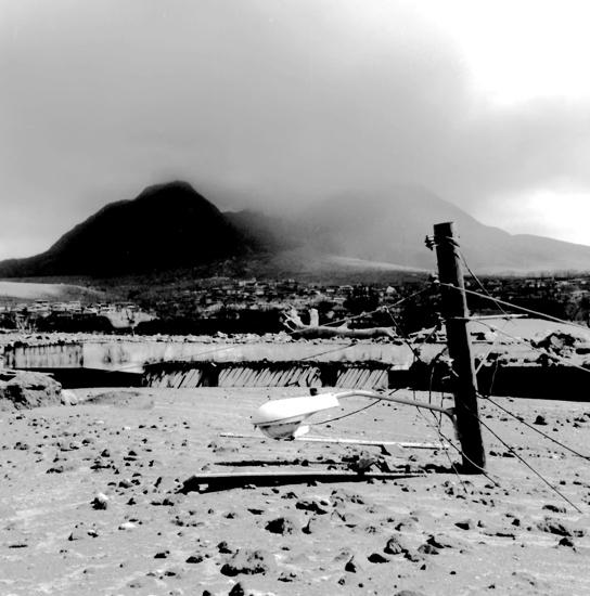 Plymouth Montserrat ash fall