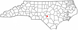 Location of Fort Bragg, North Carolina