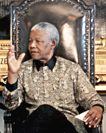 Mandela on a visit to Brazil in 1998 Nelson Mandela 1998.JPG