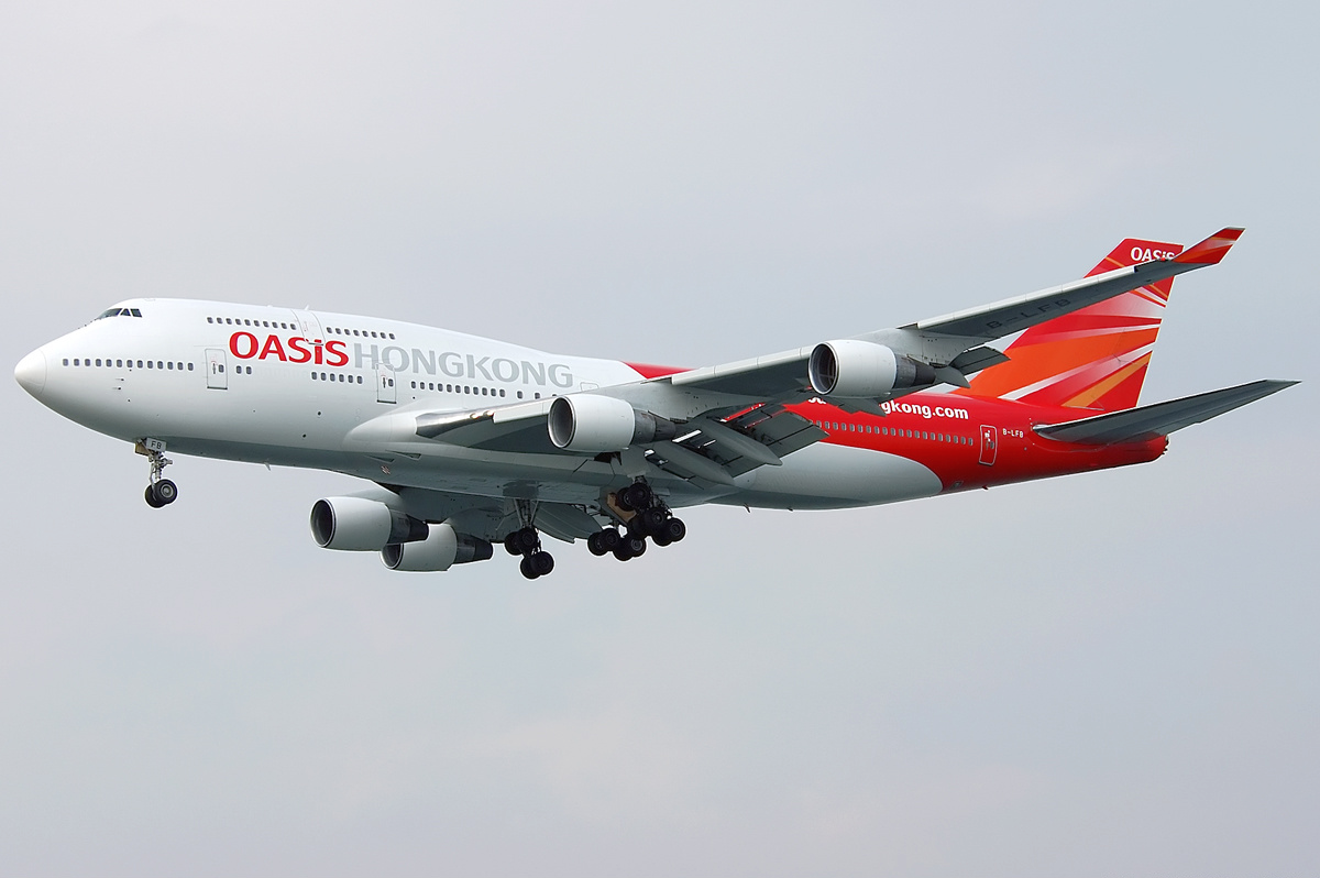 oasis hong kong airlines limited Quote: oasis hong kong airlines limited oasis hong kong airlines acquires two 747-400s 16 march 2006 hong kong oasis hong kong airlines is very pleased to announce the acquisition of its first two aircraft the aircraft are b747-400 previously operated and maintained by singapore airlines and sia engineering co ltd respectively.