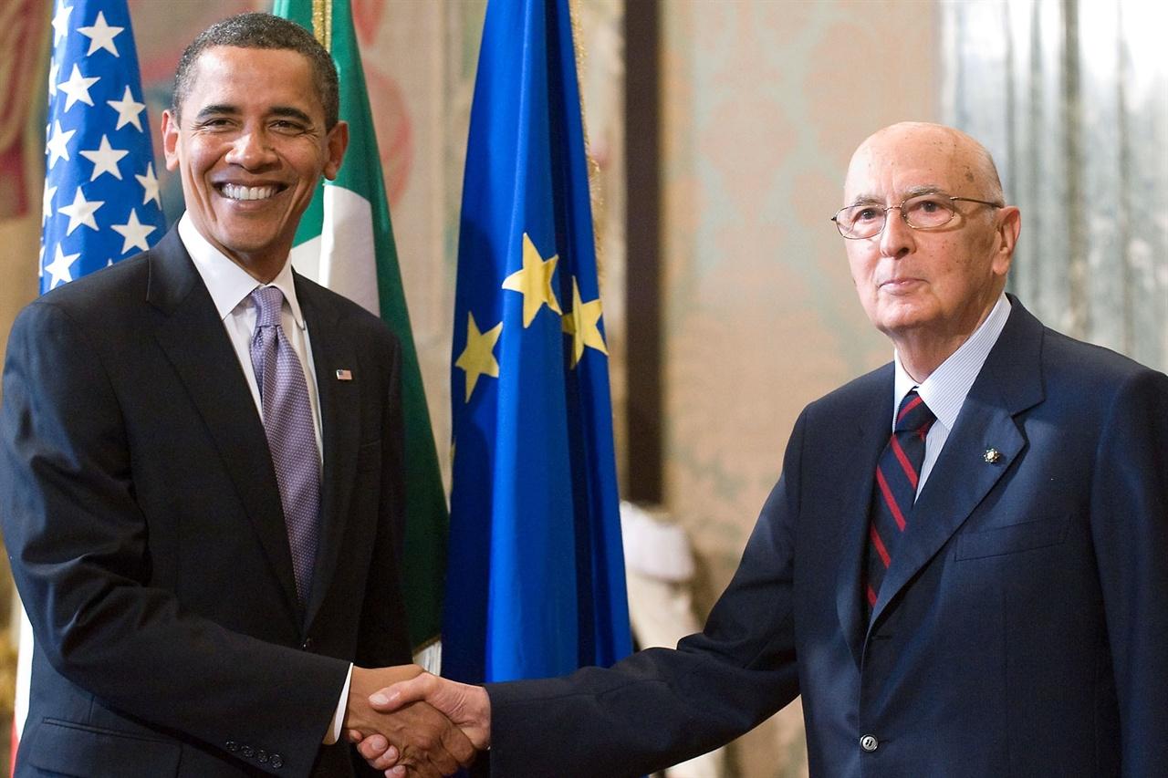 ITALIE: L'ANCIEN NOUVEAU PRESIDENT (en direct de Rome) dans ITALIE Obama_Napolitano