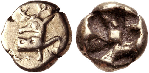Αρχείο:One 24th of stater, Phanes, Ionia.jpg