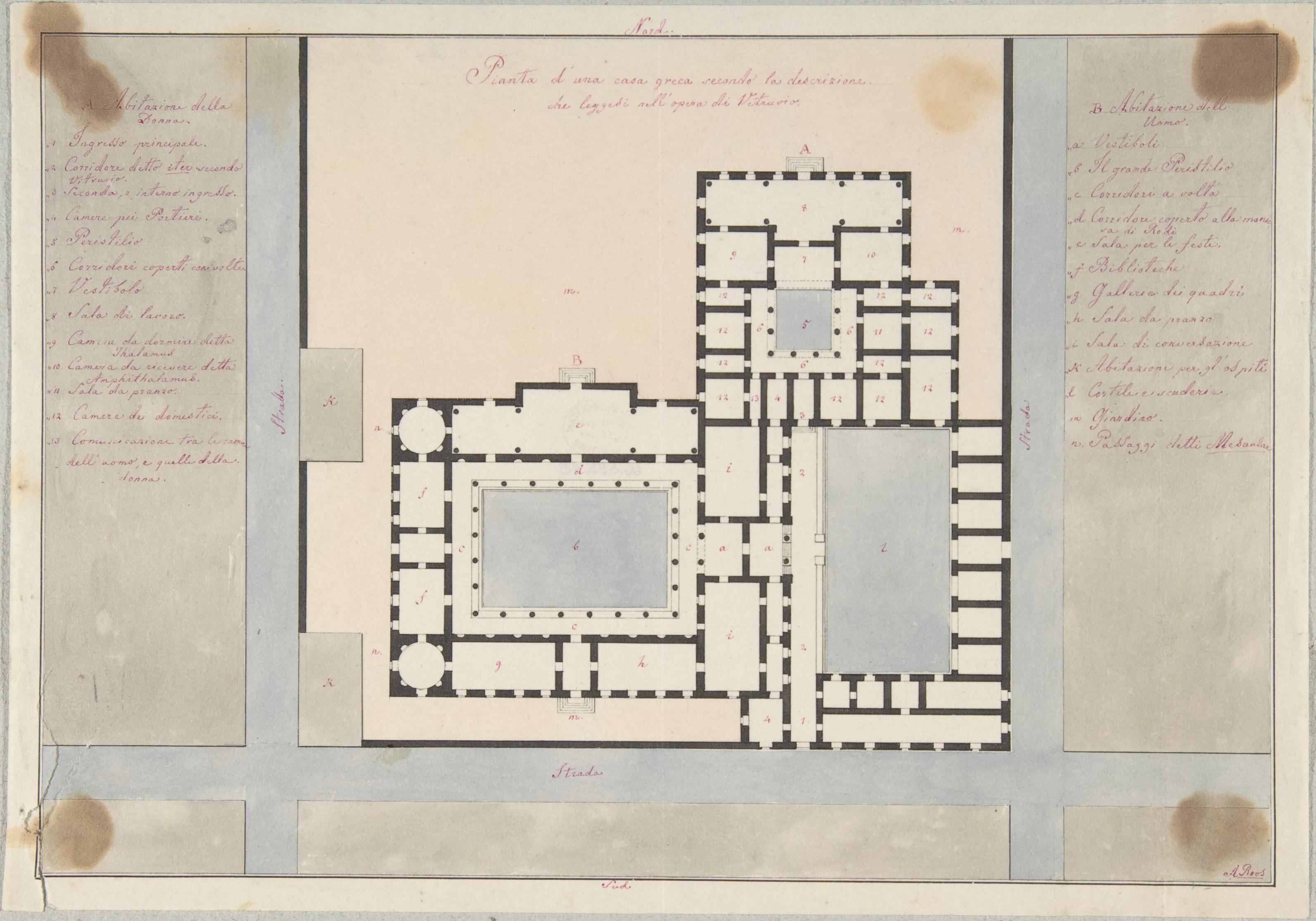 Quadri Per Sala Da Pranzo file:plan of a greek house met dp803957 - wikimedia commons