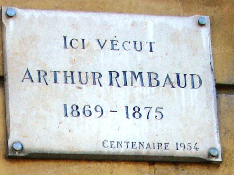 File plaque maison de rimbaud charleville m zi for Plaque nom de maison