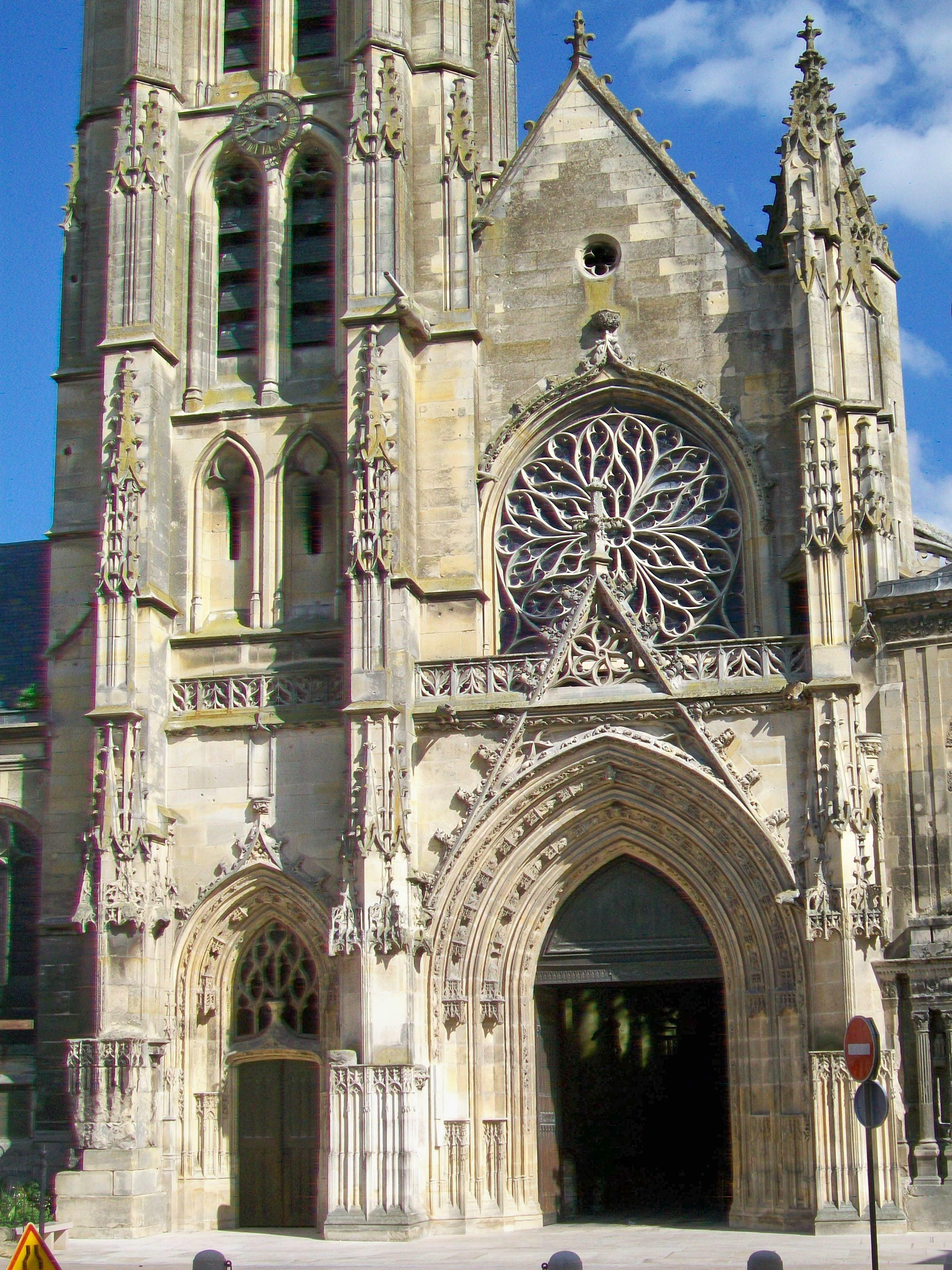File pontoise 95 cath drale saint maclou fa ade ouest depuis la rue de l - Saint maclou tapisserie ...